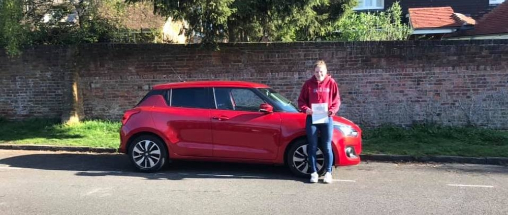 Hannah Penney passed first time on 11th April 2019 with only 2 faults